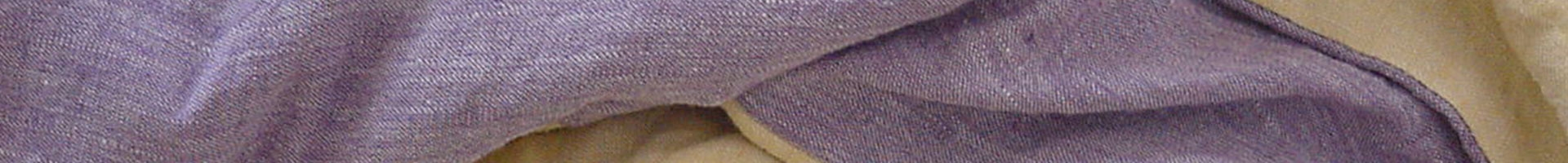 100% linen duvet cover in violet double faced in yellow linen