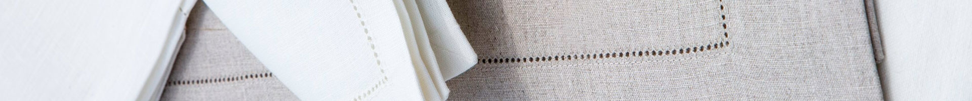 100% linen tablemats with double hemstitch