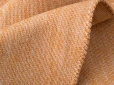 100% silk Linus throw color orange