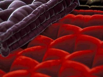 Velvet small mattresses in various colours