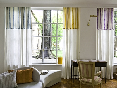 Printed curtains in Tiger Stripe fabric