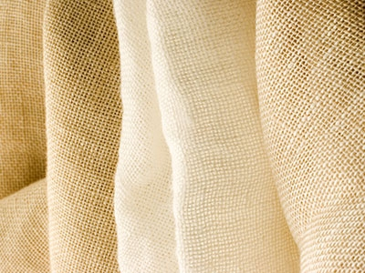 Linen Cerro Garza white and beige