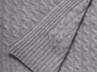 Mammolo 100% grey cashmere blanket