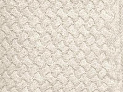 Cucciolo 100% white cashmere blanket