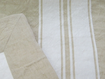 Duvet cover in striped Laveno linen