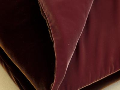 Velvet bed runner backed in velvet