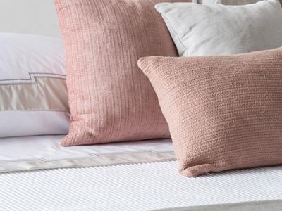 Linen and velvet decorative pillows