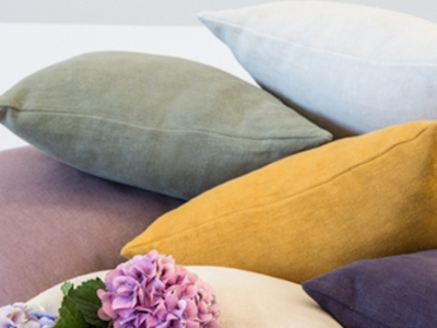 Volterra 100% coloured linen decortive cushions