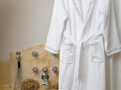 Tirreno bathrobe in optical white terrycloth
