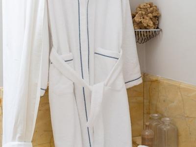 Bathrobe model CAVALLUCCIO in white terrycloth