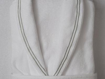 Bathrobe Model TIRRENO in white terrycloth