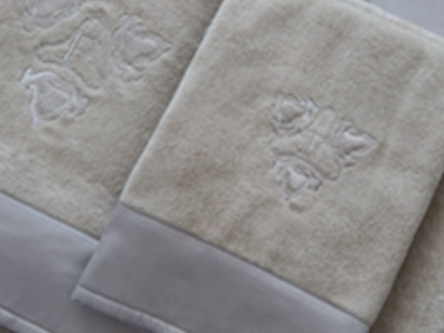 Nautilus bath towels with embroidery