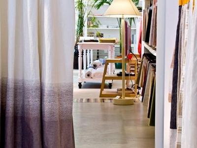 100% linen 'Alba' curtain panel