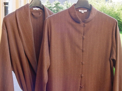 Cashmere night gowns and custom made homewear