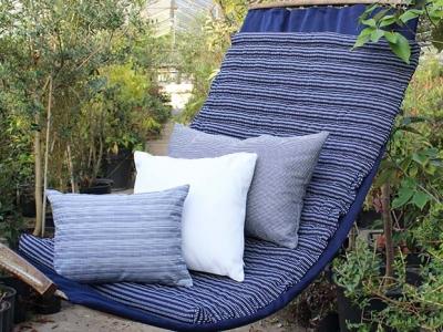 Outdoor pillows blue