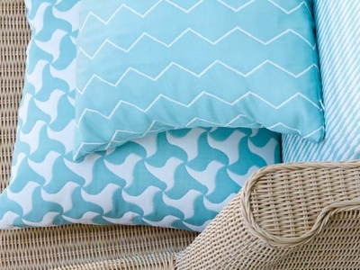 Pic nic Elica and Grill, outdoor fabrics in vivid colors