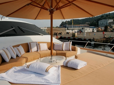 Also on cruise ships you can use C&C Milano luxury terrycloth