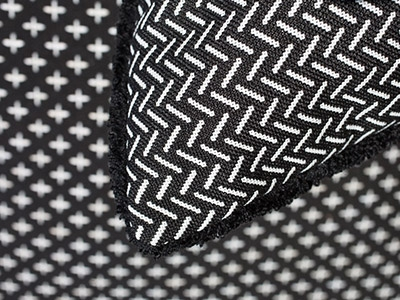 Outdoor fabrics collection isola black and white