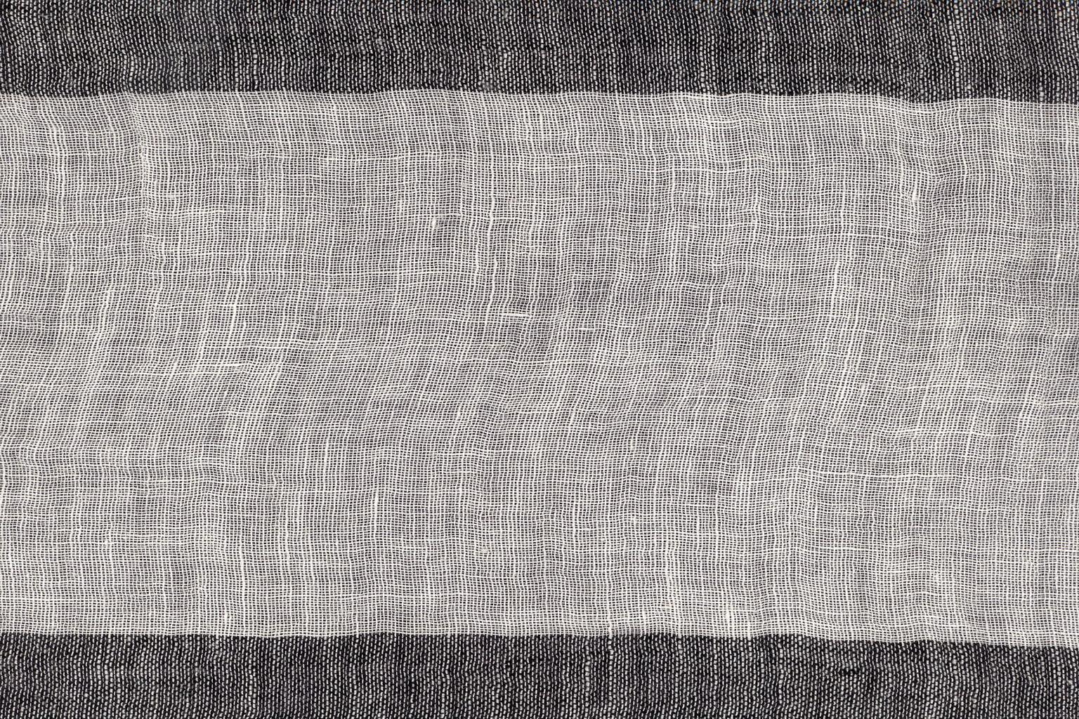 SGARZOLINO BARRE' MACHE' White-black 15 cm stripe