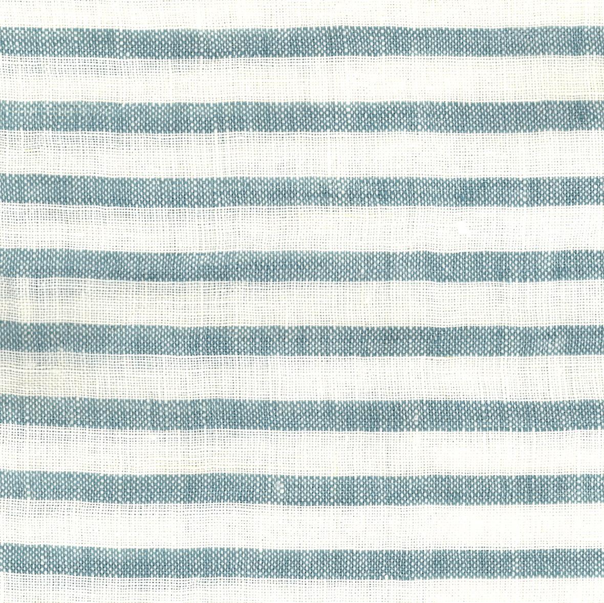 PERSICO BARRE' MACHE' White-Aqua 6 mm Stripe