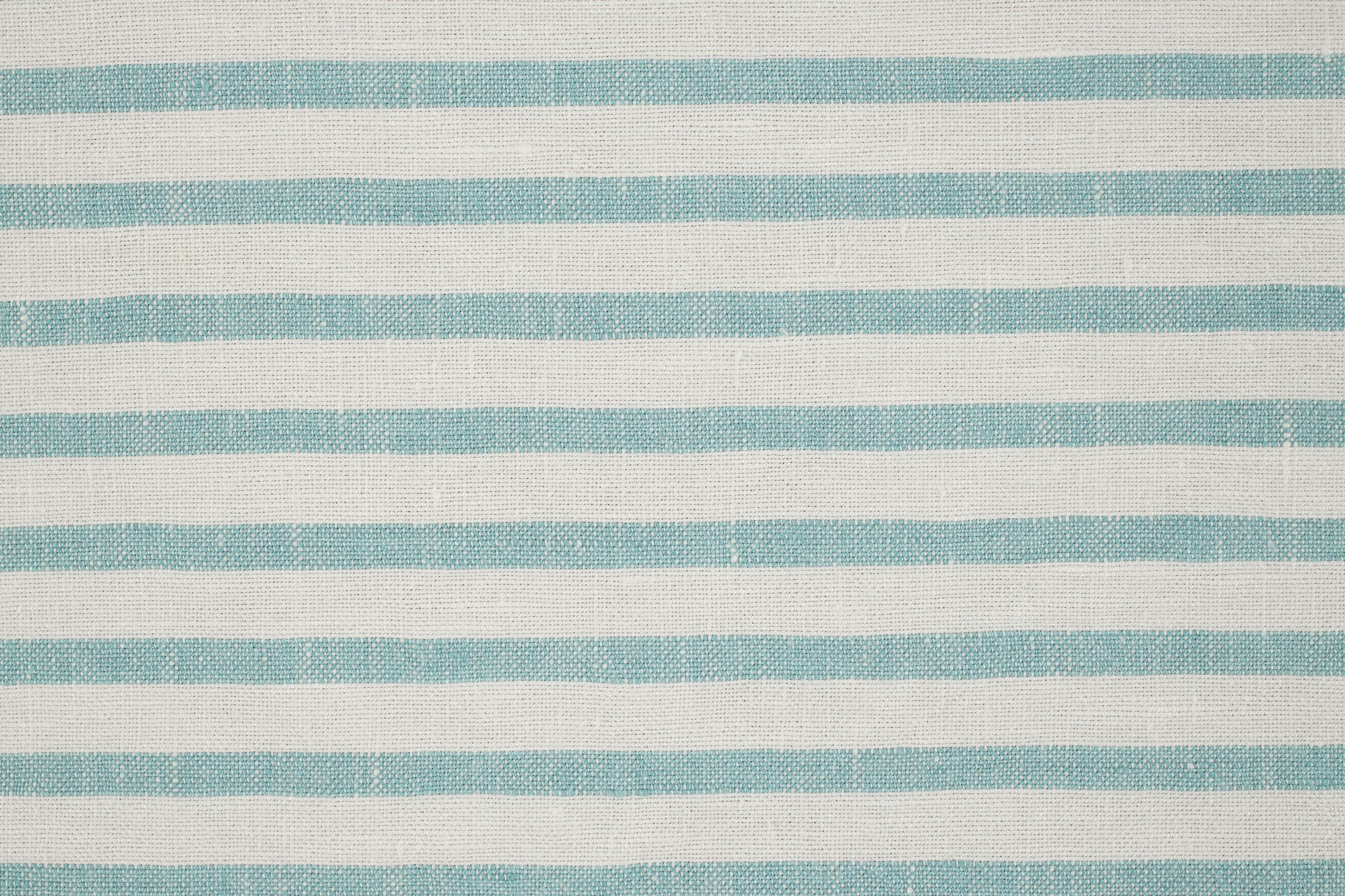LAVENO BARRE' MACHE' White-Aqua 6 mm Stripe