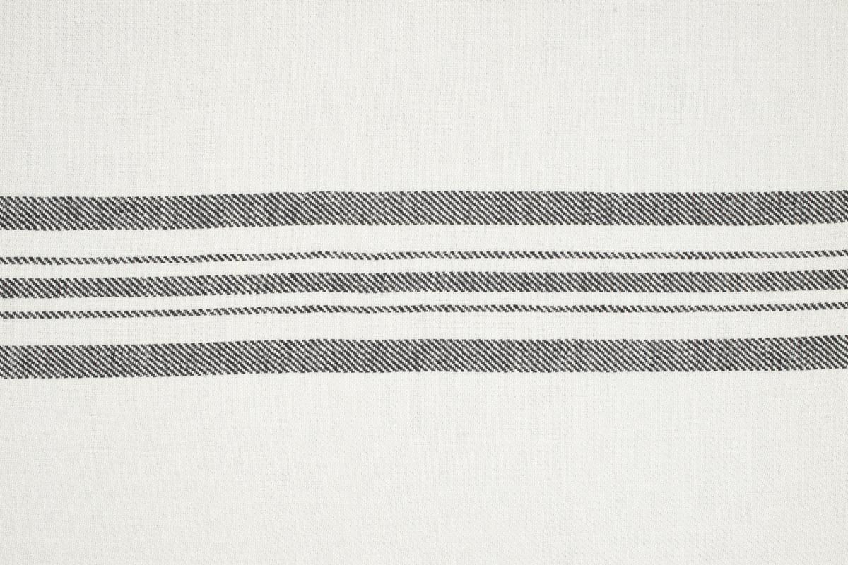CASTELLINO TWILL BARRE' MACHE' Off White Black Stripes