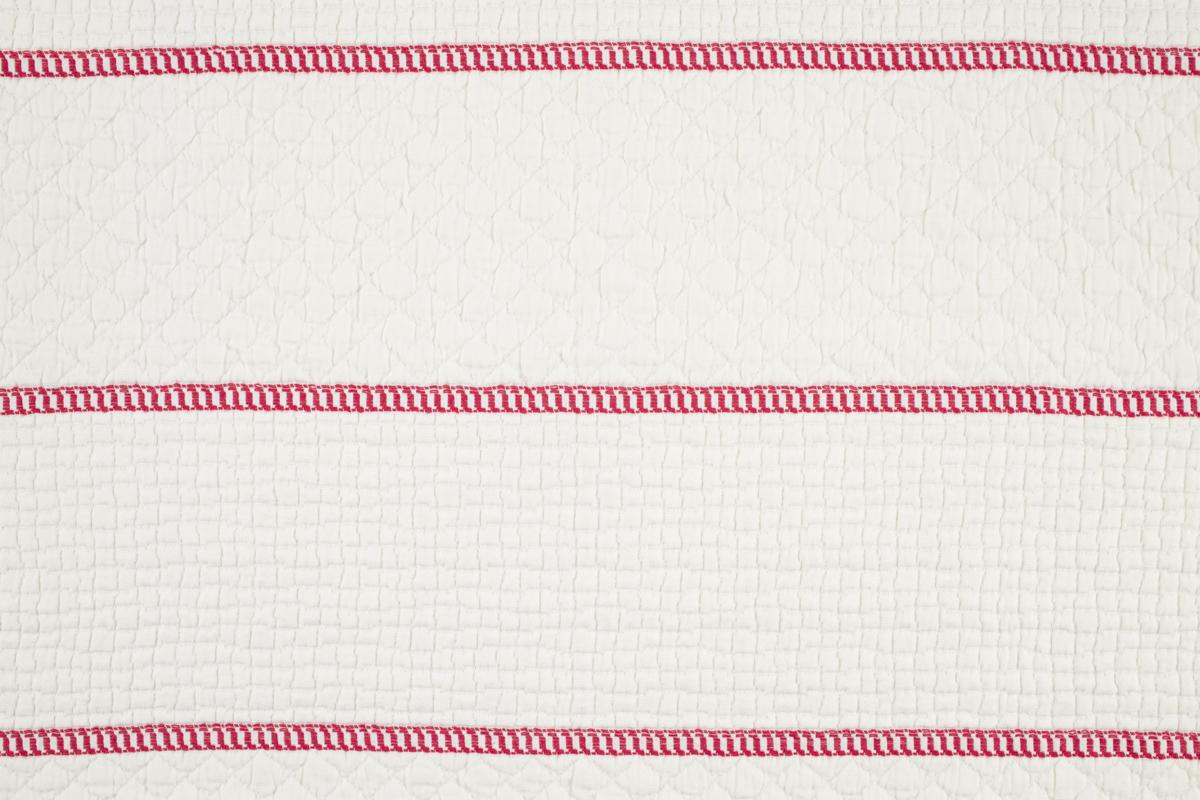 CAPRI BARRE' Ivory Red Stripe