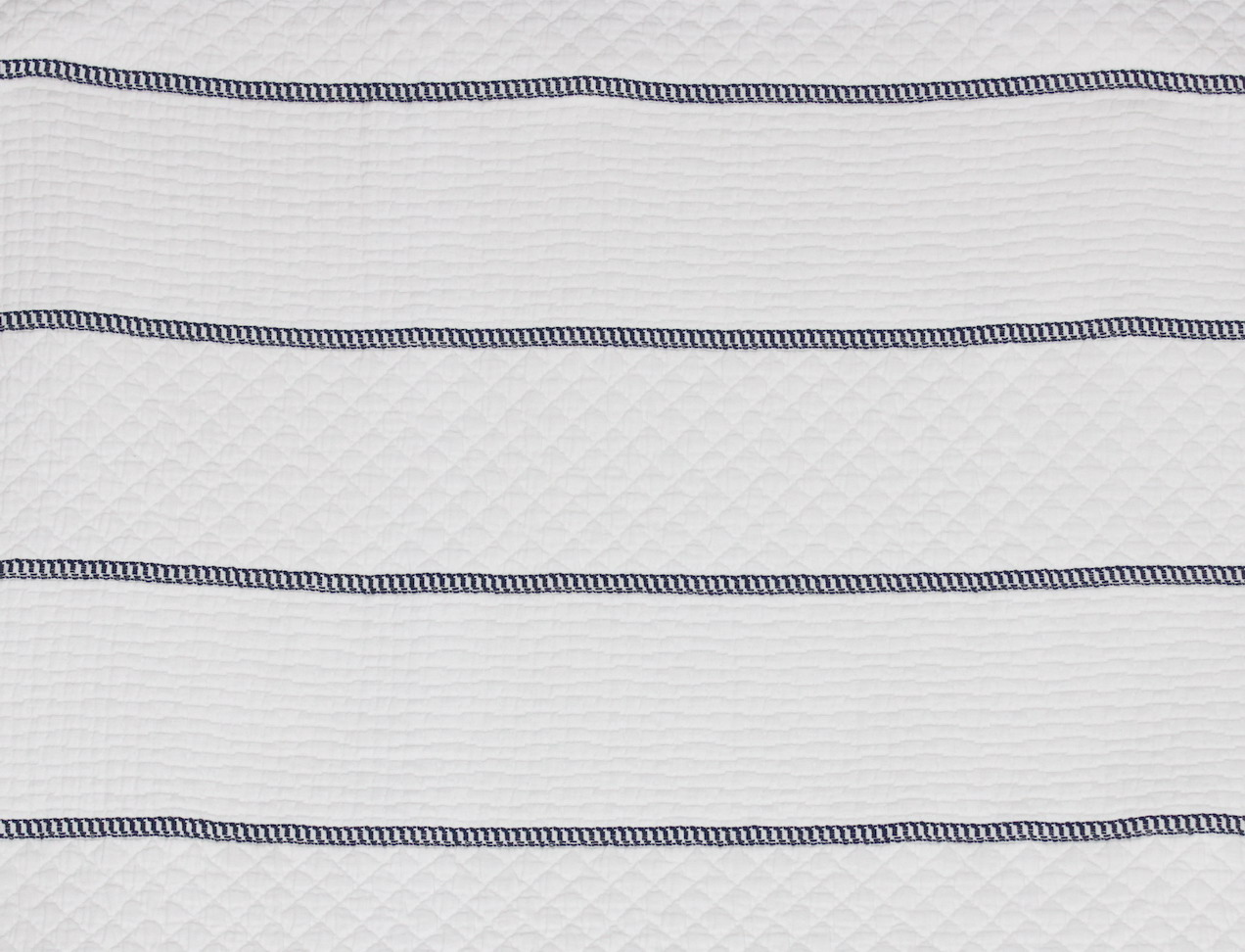 CAPRI BARRE' White Navy Blue Stripe