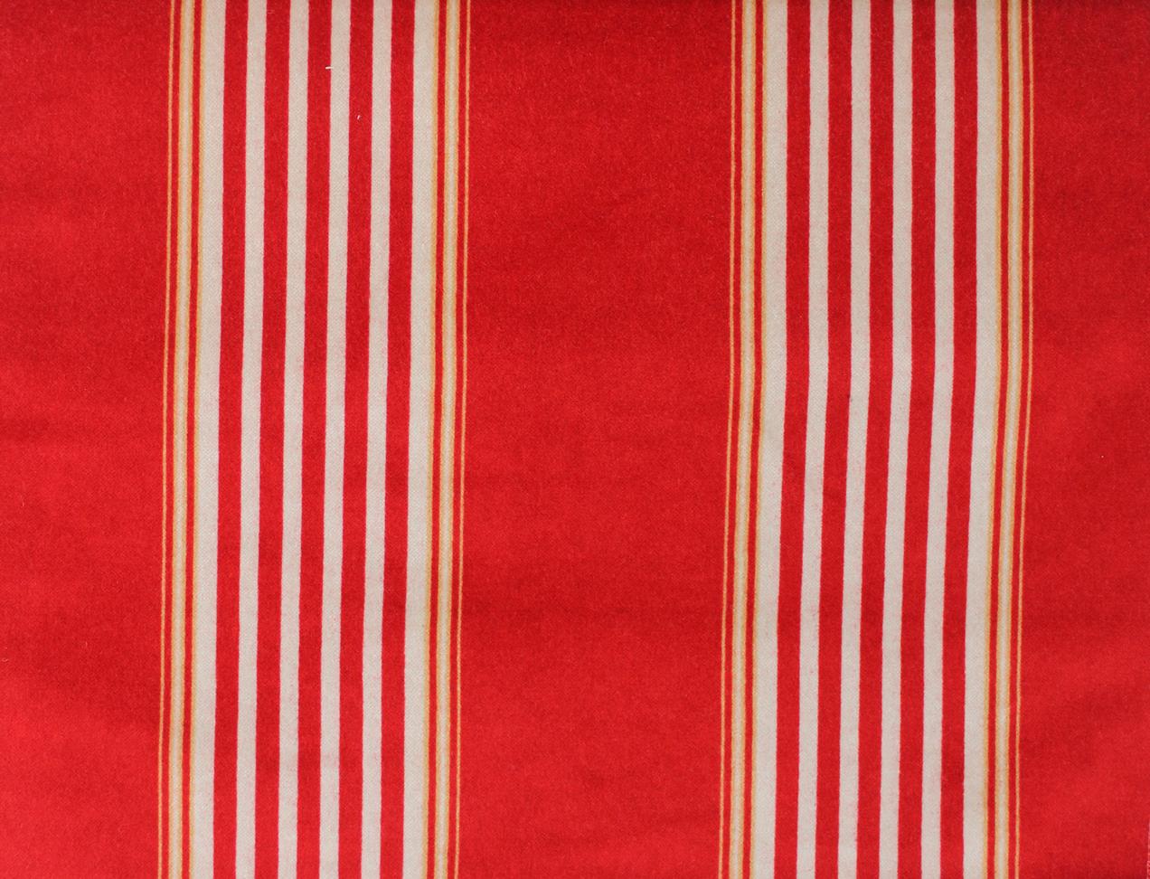 VENICE STRIPE Red/Beige