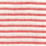 PERSICO BARRE' MACHE' White-Red 6 mm Stripe