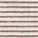 PERSICO BARRE' MACHE' White-Coffee 6 mm Stripe