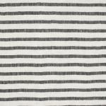 LAVENO BARRE' MACHE' White-Black 6 mm Stripe