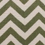 PIENZA CHEVRON Parsley/Ivory